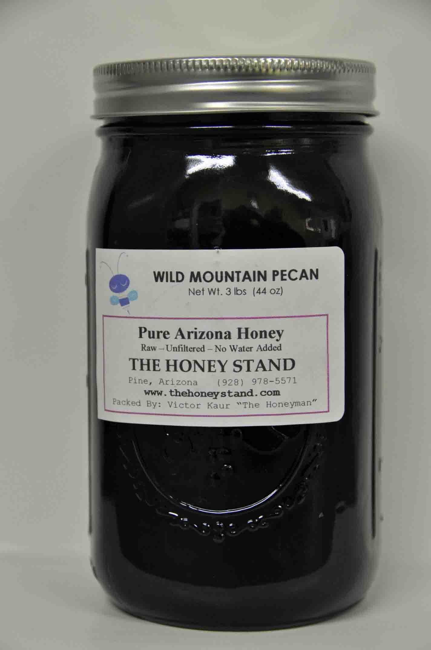 Wild Mountain Pecan Honey: 1 Quart Jar